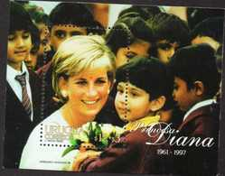 Lady Di Uruguay Souvenir Sheet 1997 - Célébrités