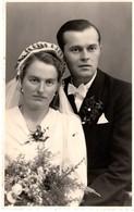 Hochzeitspaar Brautpaar Mit Brautstrauß Ca 1930-40 - Foto Jooss Bad Aibling - Kommunion