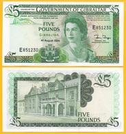 Gibraltar 5 Pounds P-21b 1988 UNC Banknote - Gibraltar
