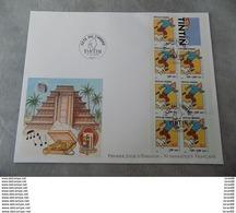 Premier Jour (FDC) Grand Format France 2000 : TINTIN (bande-carnet), Journée Du Timbre - FDC