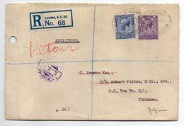 U.K -- 1931--Lettre Recommandée De LONDRES (G.B) Pour YOKOHAMA (Japon)--timbres-cachets - 1902-1951 (Rois)
