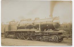 """Carte Photo Locomotive Type """" Baltic """" B.B.B Avec Descriptif Technique Inscrite Au Crayon Gris Au Verso De La Cpa - Trains"""