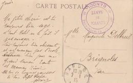 VAR CP 1915 BANDOL HOPITAL TEMPORAIRE N°9 BANDOL - 1877-1920: Période Semi Moderne