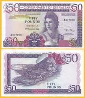 Gibraltar 50 Pounds P-24 1986 UNC Banknote - Gibraltar