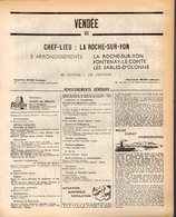 ANNUAIRE - 85 - Département Vendée - Année 1968 - édition Didot-Bottin - 100 Pages - Telephone Directories