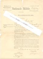 TOP ! Armée Belge - Convocation  Loting / Tirage Au Sort.- LICHTERVELDE 1888 (b258) - Documents