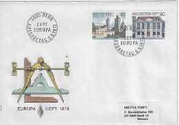 Switzerland 1978  EUROPA  2.5.78  Mi.1128-1129 - FDC