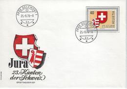 Switzerland 1978  JURA  25.9.78  Mi.1141 - FDC