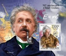 TOGO 2019 - Albert Einstein S/S. Official Issue [TG190312b] - Albert Einstein