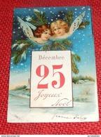 """FANTAISIES -  VOEUX -   """" Joyeux Noël """"  ( Carte Gaufrée ) - Natale"""