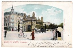Gruss Aus Stettin, Königsthor, Königstor, Alte Postkarte 1903 - Polen