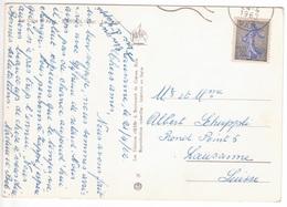 Semeuse De Piel 0,30 Seul Sur Carte Postale > SUISSE Avril 1962 (rare) - Marcofilie (Brieven)