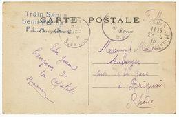 PARIS GARE AUSTERLITZ CP 1915 FM HOPITAL TRAIN SANITAIRE SEMI-PERMANENT PLM N°2 - Marcophilie (Lettres)