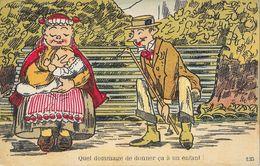Humour - Nounou: Quel Dommage De Donner ça à Un Enfant - Edition J. Nozais, Carte N° 135 - Humour