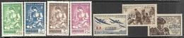 Algeria   1943-5  Sc#B39-45  7 Diff  MH     2016 Scott Value $7.30 - Algeria (1924-1962)