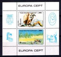 Turkish Cyprus 1986 R MNH Block Birds Oiseaux Vögel Pájaros Ptitsy Passarinhos Europa Europe Cept Griffon Vulture - Eagles & Birds Of Prey