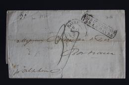 France Cover Valparaiso CHili A Bordeaux  PAYS D'OUTREMER PAR LE HAVRE 1834 - 1801-1848: Précurseurs XIX
