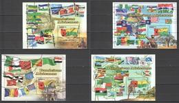 BC766 2010 GUINE GUINEA-BISSAU AFRICAN FLAGS 4BL MNH - Flaggen