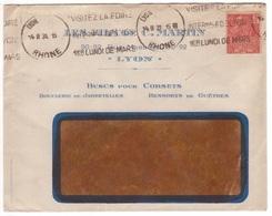 50c FACHI / Lettre Oblitération Rare Machine Krag De Secours D'un Autre Bureau LYON ... Gratté 1931 Dreyfuss LYO133 - 1921-1960: Periodo Moderno