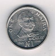 ONE NAIRA 1991 NIGERIA /6114/ - Nigeria