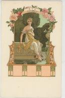 FEMMES - Jolie Carte Fantaisie Femme ART NOUVEAU - Les Saisons : ÉTÉ - Signée ELISABETH SONREL (carte Précurseur) - Künstlerkarten