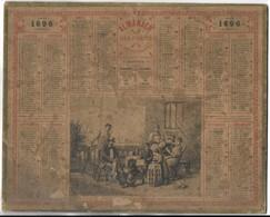 CALENDRIER De 1896 - Format 26.5 X 21 Cm - 3 Feuillets Au Verso De La Gironde - Calendari