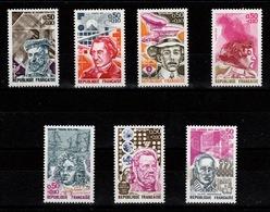 YV 1744 à 1748 + 1768 & 1769 N** Celebrites 1973 - France