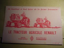 1 Buvard TRACTEUR RENAULT - Agriculture