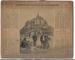 CALENDRIER De 1903 - Format 26.5 X 21 Cm - 3 Feuillets Au Verso De La Gironde - Grand Format : 1901-20