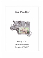 Malaysia July 2019 Wildlife Conservation Kuching Postmark First Day Sheet Sumatran Rhino MS - Malaysia (1964-...)
