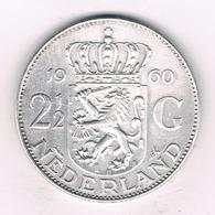 2 1/2 GULDEN 1960 NEDERLAND /6119/ - [ 3] 1815-… : Royaume Des Pays-Bas