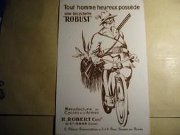 1 Buvard Bicyclette ROBUST - Moto & Vélo