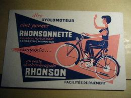 1 Buvard Cyclomoteur RHONSON - Moto & Vélo