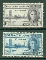 Falkland Is: 1946   Victory    MH - Falkland Islands