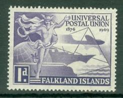 Falkland Is: 1949   U.P.U.   SG168   1d   MH - Falkland Islands