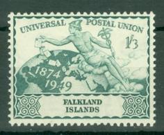 Falkland Is: 1949   U.P.U.   SG170   1/3d   MH - Falkland Islands