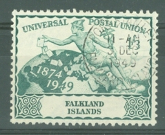 Falkland Is: 1949   U.P.U.   SG170   1/3d   Used - Falkland Islands