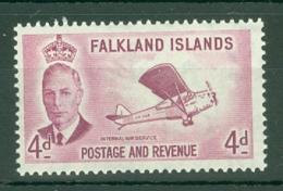 Falkland Is: 1952   KGVI   SG177    4d       MH - Falkland Islands