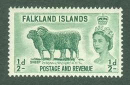 Falkland Is: 1955/57   QE II - Pictorial   SG187    ½d       MH - Falkland Islands