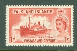 Falkland Is: 1955/57   QE II - Pictorial   SG188    1d       MH - Falkland Islands