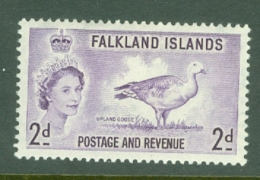 Falkland Is: 1955/57   QE II - Pictorial   SG189    2d       MH - Falkland Islands