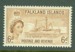 Falkland Is: 1955/57   QE II - Pictorial   SG190    6d       MH - Falklandinseln