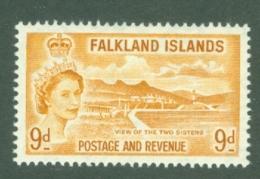 Falkland Is: 1955/57   QE II - Pictorial   SG191    9d       MH - Falkland Islands