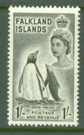Falkland Is: 1955/57   QE II - Pictorial   SG192    1/-       MH - Falkland Islands