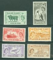 Falkland Is: 1955/57   QE II - Pictorial Set  SG187-192     MH - Falkland Islands