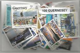 Lot De 100 Timbres De Guernesey - Guernesey