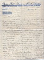 1930 YUGOSLAVIA, CROATIA, RAB, PALACE HOTEL 'PRAHA AND HOTEL BRISTOL, LETTERHEAD - Invoices & Commercial Documents