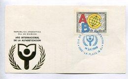 AÑO INTERNACIONAL DE LA ALFABETIZACION. ARGENTINA 1990 TARJETA DIA DE EMISION FDC CARD - LILHU - Sprachen