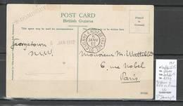 France -CP De Guyane Britannique - Cayenne à Fort De France LC  - 1912 - Marcophilie (Lettres)