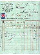 1916 ITALY, TRIESTE,  COMPANY INVOICE, FATTURA, LUIGI PERITZ, MARINE GOODS SUPPLIER, 1 IMPRINTED FISKAL STAMP - Italy